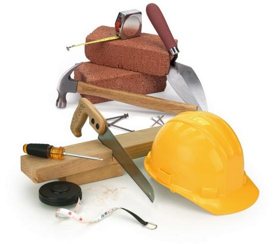Строительный инструмент -коллаж